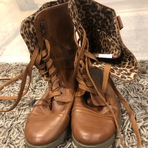 Two fall/winter lace up boots